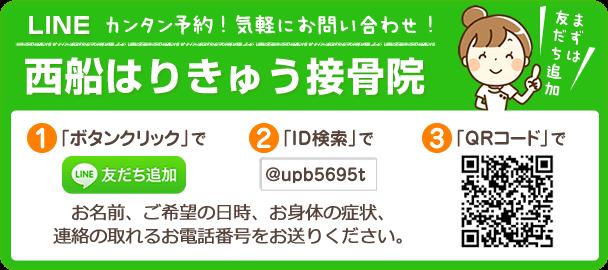 西船はりきゅう接骨院LINE@